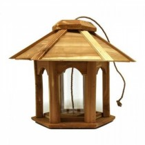 Hanging Wooden Gazebo Bird Feeder