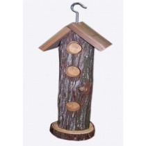 Hanging Wooden Log Bird Feeder
