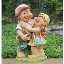 Happy Couples Garden Sculptures
