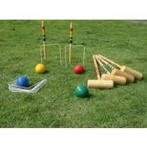 Hard Wood Croquet Set