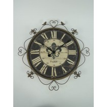 Heart & Bird Metal Antique Wall Clock