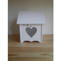 Heart Shape Wooden Bird House
