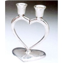 Heart Shaped 2 Lights Candle Stand