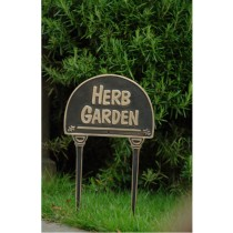 Herb Garden Stylish Black Garden Tag