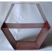 Hexagonal Candle Holder  Size - 28X12X25  cms