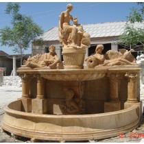High Quality Beige Marble Garden Sculptures
