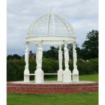High Quality Classic Cream Finish Metal Gazebo