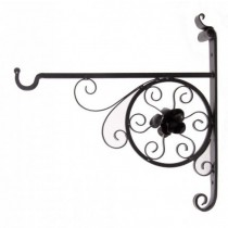 High Quality Iron Hanging Basket Bracket Height 12 Inch - 1