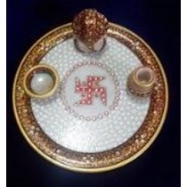 High Quality Marble Pooja Plate