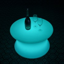 High Quality Plastic Color Changing LED Bar Table