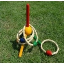High Quality Wooden Quoits Set With 5 Rings