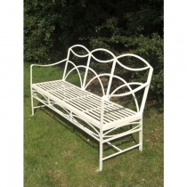 High Quality Wrought Iron Garden Bench