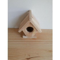 Home Shaped Fir Wood Bird House
