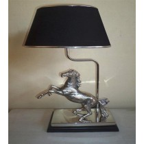 Horse Black Shade Lamp