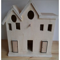 House Shape Wooden Bird House
