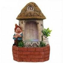 Hut Type Gnome House Garden Water Fountain