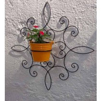 Innovative Wall Bracket with Yellow Bucket Planter