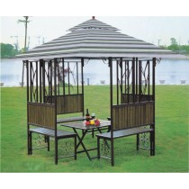 Iron Gazebo Tent with Benches