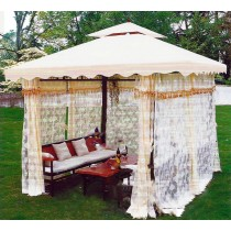 Iron Gazebo Tent with Benches and Table