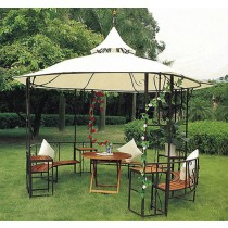 Iron Gazebo Tent With Double Top Design