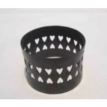 Iron Napkin Ring cut out design black finish