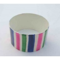 Iron Napkin Ring flat multi color Line