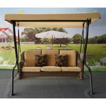 Iron Stand  & Aluminum Frame  3 Seater  Swing
