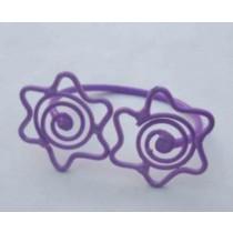 Iron wire Napkin Ring Star Design Purple Color