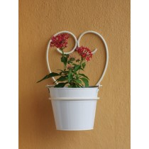 Ivory Happy Heart Shaped Wall Pot Holder