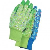 Ladies Tulip Floral Design Garden Gloves