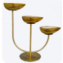 Lamp Stand With Wax Filled Lamp 30 Inches