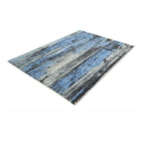 Large-Blended Wool Printed Blue & Grey Carpets