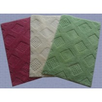 Large-Dotted Square Design Bathmats
