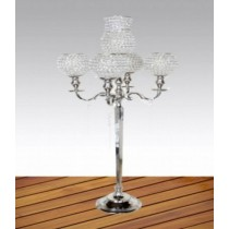 Large 5 Arm Crystal Candelabras