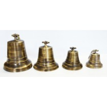 Large 6 Inch Antique Brass Bell
