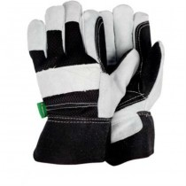 Large Black & white Heavy Duty Gloves