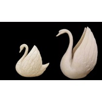 Large Carved Sandstone Swan Bird Water Fountain