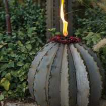 Large Galvanized Steel Finish Modern Garden Torch