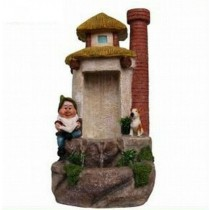 Large Gnome House Shape Water Fountain