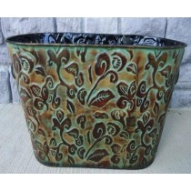 Large 18 Inch Metal Oval Flower Pot