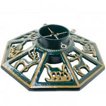 Large Octagonal Cast Iron Christmas Tree Stand