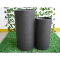 Large Round  Fiber Stone Pots Set of 2 Pcs
