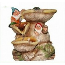 Large Size Gnome Mushroom 3 Tire Fountain