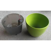 Large Size Green Color Plastic Self-Watering Planter
