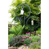Large Steel Hanging Garden Gong With Stand