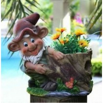Laughing Gnome Decorative Garden Planter