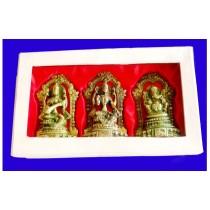 Laxmi, Ganesh & Saraswati Statue, 5 Inches