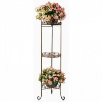 Leaf Design 3- Tier Metal Plant Stand