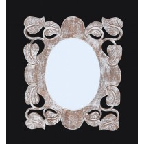 Leaf Wooden Mirror Frame