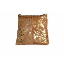Leather Golden Cushion Cover